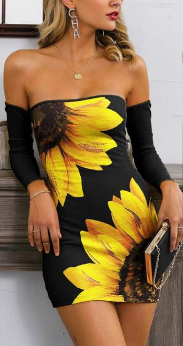 Sunflower Glamaker Lace Up Back Bardot Bodycon Dress