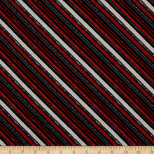 Load image into Gallery viewer, Wilmington Prints - Black Diagonal Stripe - 1/2 YARD CUT