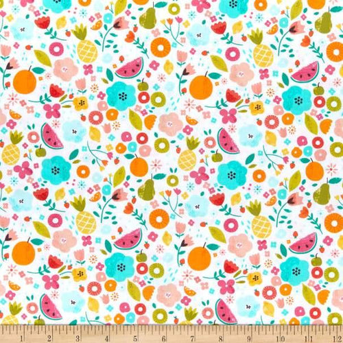 Dear Stella - White Summertime - 1/2 YARD CUT - Dreaming of the Sea Fabrics