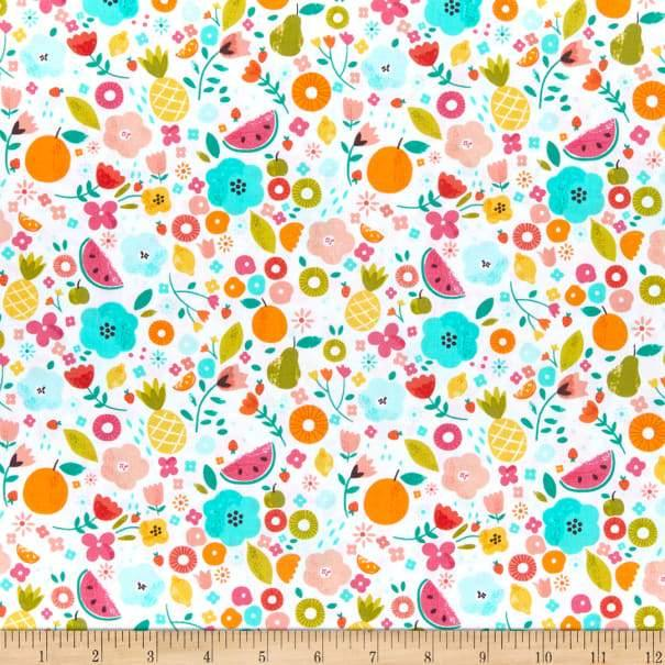 Dear Stella - White Summertime - 1/2 YARD CUT