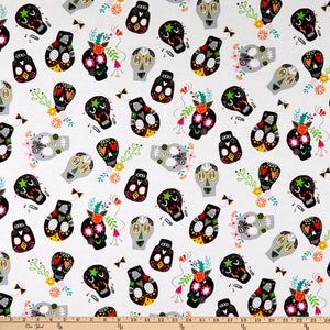 Windham - Painted Sugar Skulls - 1/2 YARD CUT
