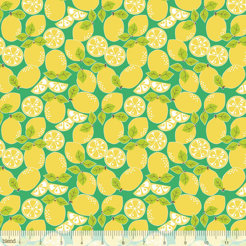 Blend Fabrics - Pucker Up - Lemon Drop - 1/2 YARD CUT - Dreaming of the Sea Fabrics