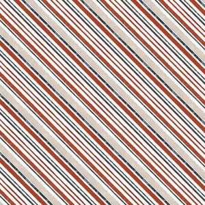Wilmington Prints - Cream Diagonal Stripe - 1/2 YARD CUT