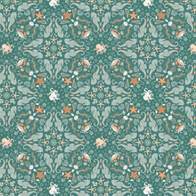 Load image into Gallery viewer, Camelot - Seahorse Garden - Deep Olive - 1/2 YARD CUT