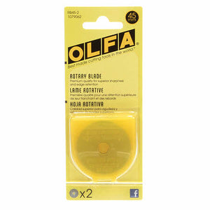 Olfa 45mm Rotary Blade Replacement - 2 pk