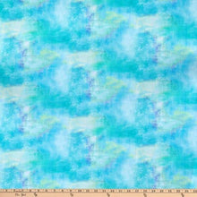 Load image into Gallery viewer, 3 Wishes - Bloom with Grace - Turquoise - 1/2 YARD CUT