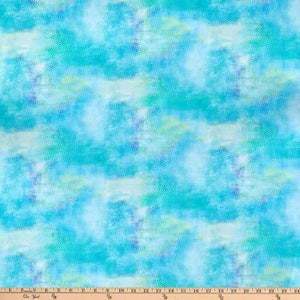3 Wishes - Bloom with Grace - Turquoise - 1/2 YARD CUT