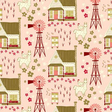 Load image into Gallery viewer, Windham Fabrics - Homestead Vignette - Shirley Poppy - 1/2 YARD CUT