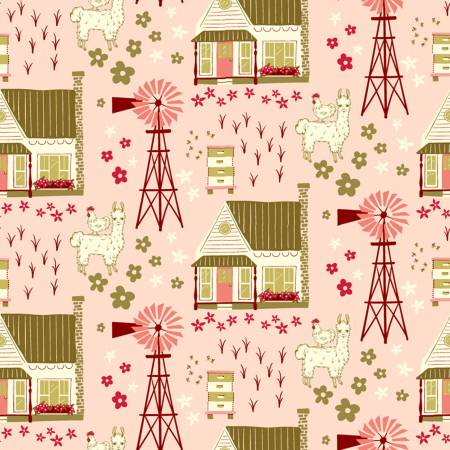 Windham Fabrics - Homestead Vignette - Shirley Poppy - 1/2 YARD CUT