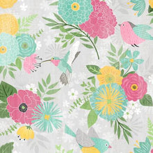 Load image into Gallery viewer, Wilmington Prints - Keep Shining Bright - Large Allover Floral - Grey (68509) - 1/2 YARD CUT