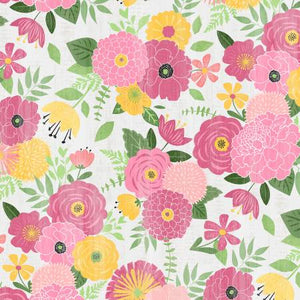 Wilmington Prints - Keep Shining Bright - Packed Florals - Grey (68511) - 1/2 YARD CUT