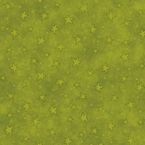 Henry Glass & Co - Lime Stars - 1/2 YARD CUT