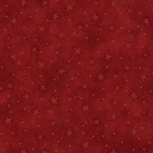 Henry Glass & Co - Red Stars - 1/2 YARD CUT