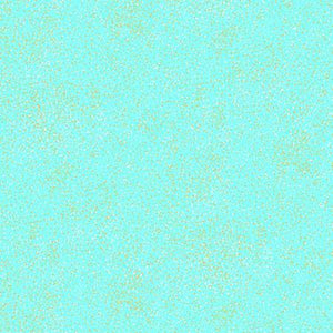 Kanvas - Moonlit Dots - Aqua w/ Metallic - 1/2 YARD CUT