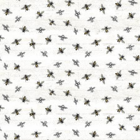 Riley Blake - Bees Life - Parchment - 1/2 YARD CUT