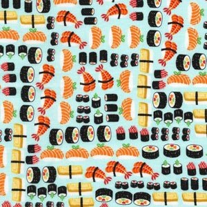 Timeless Treasures - Sushi Allover - 1/2 YARD CUT