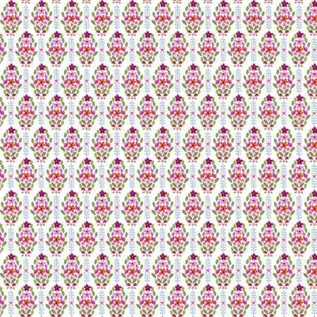 Dear Stella - No Cause for A-Llama - White Floral - 1/2 YARD CUT