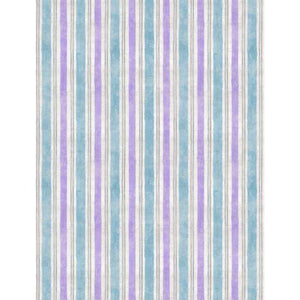 Wilmington Prints - Flower Market - Blue Stripe - 1/2 YARD CUT