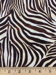 Quilting Treasures - Zebra Print - 1/2 YARD CUT