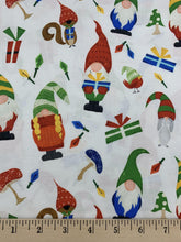 Load image into Gallery viewer, David Textiles - Gnomes and Presents - 1/2 YARD CUT