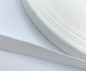 "White 1"" Polypro Webbing - BY THE YARD"