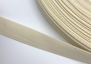 "Cream 1"" Polypro Webbing - BY THE YARD"