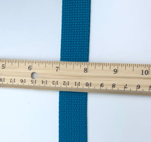 "Turquoise 1"" Polypro Webbing - BY THE YARD"