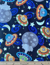 Load image into Gallery viewer, Camelot - Outer Space - GLOW IN THE DARK - 1/2 YARD CUT - Dreaming of the Sea Fabrics