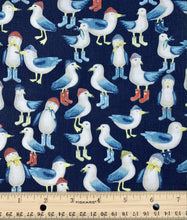 Load image into Gallery viewer, Dear Stella - Flock of Seagulls - 1/2 YARD CUT - Dreaming of the Sea Fabrics