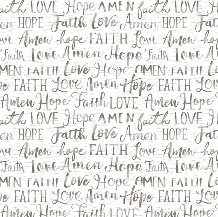 Timeless Treasures - Oh Come Let Us Adore Him - Words - 1/2 YARD CUT
