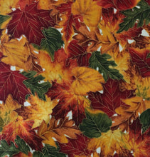 Load image into Gallery viewer, Timeless Treasures -  Harvest Leaves - Metallic - 1/2 YARD CUT