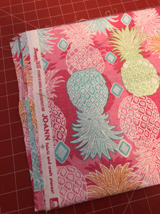 End of Bolt - Neon Pineapples 1 yd 11""