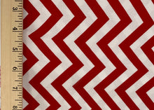 Load image into Gallery viewer, Moda Fabrics - Modern Zig Zags - Medium - Ruby - 1/2 YARD CUT