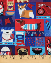 Load image into Gallery viewer, Hobby Lobby - Patriotic Pups - 1/2 YARD CUT