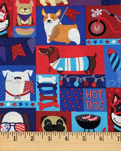 Hobby Lobby - Patriotic Pups - 1/2 YARD CUT