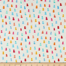 Load image into Gallery viewer, Dear Stella - White Hello Kitties - 1/2 YARD CUT