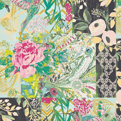 Art Gallery Fabrics - Collage Poise - Glam - 1/2 YARD CUT