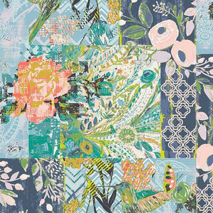 Art Gallery Fabrics - Collage Poise - Deco - 1/2 YARD CUT