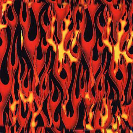 Elizabeth's Studio - Red Flames - 1/2 YARD CUT