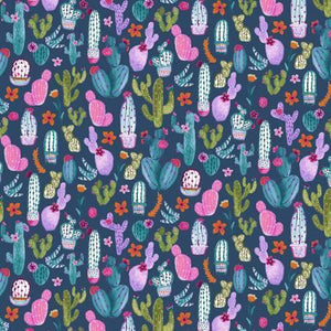 Dear Stella - No Cause for A-Llama - Patriot Cacti - 1/2 YARD CUT