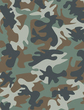 Load image into Gallery viewer, jungle forest green black tan brown camouflage camo jungle dear Stella fabric