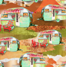 Load image into Gallery viewer, 3 Wishes Fabric - The Great Outdoors - Campers - 1/2 YARD CUT