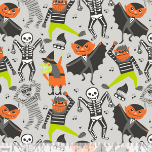 Blend Fabrics - Boo Bash Grey - Monster Mash - 1/2 YARD CUT