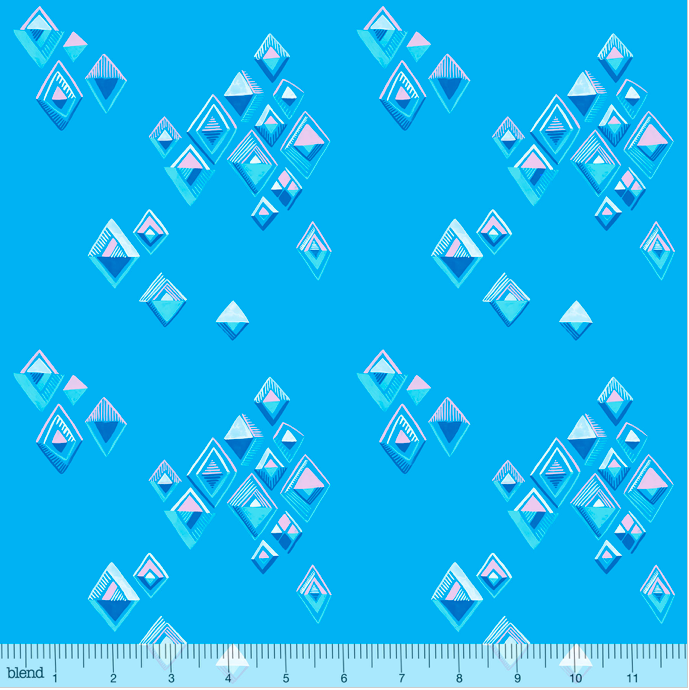 Blend Fabrics - Arctic Playground - Icy Reflections Turquoise - 1/2 YARD CUT