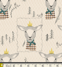 Load image into Gallery viewer, Art Gallery Fabrics - Sir Wooly - 1/2 YARD CUT