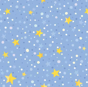 P&B Textiles - Winter Lights - Star Dot Blue Violet - 1/2 YARD CUT