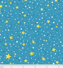 Load image into Gallery viewer, P&B Textiles - Winter Lights - Star Dot Teal - 1/2 YARD CUT