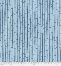 Load image into Gallery viewer, P&B Textiles - Sailors Rest - Fences Blue - 1/2 YARD CUT