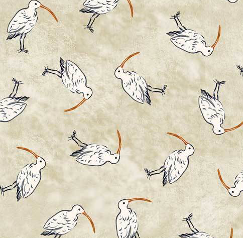 P&B Textiles - Sailors Rest - Sand Pipers - 1/2 YARD CUT