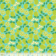 Load image into Gallery viewer, Blend Fabrics - Pucker Up - Blue Limes - 1/2 YARD CUT - Dreaming of the Sea Fabrics